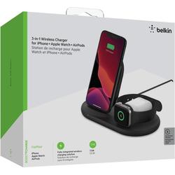 Belkin 3-in-1 Wireless Ladestation f. Apple Wireless Charger schwarz