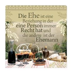 """H&H Romantisches Geschirrtuch """"Die Ehe ist..."""" Handtuch"""