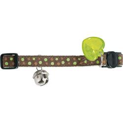 Katzenhalsband Dots grün one-size