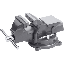 meister Schraubstock, 75 mm, drehbar grau Schraubstöcke Werkzeug Maschinen Schraubstock
