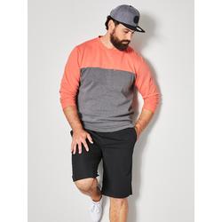 Sweatshirt Men Plus Grau/Koralle
