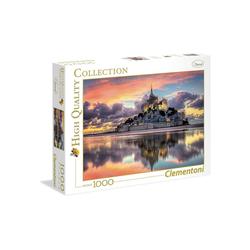 Clementoni® Puzzle Clementoni - Mont Saint-Michel, 1000 Teile Puzzle, 1000 Puzzleteile