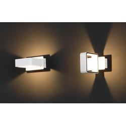 Quadratische LED-Wandleuchte Tokyo - Weiß