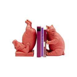 KARE Buchstütze Buchstütze Hippo Pink 2Set rosa