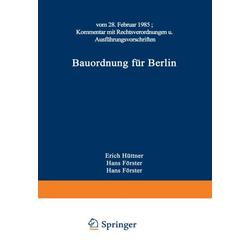 Bauordnung für Berlin als Buch von