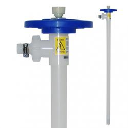 Fasspumpen Pumpwerk aus PVDF mit Impeller, HC-Welle