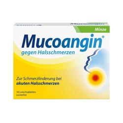 MUCOANGIN Minze 20 mg Lutschtabletten 18 St