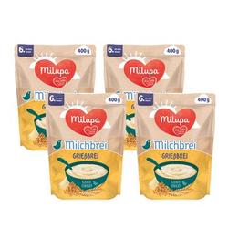 Milupa Milchbrei Grießbrei miluvit >>mit<< Kleine Genießer 4 x 400 g ab dem 6. Monat