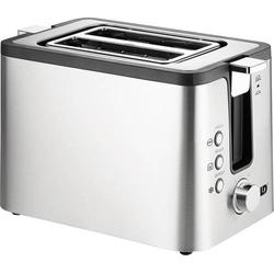 Unold TOASTER 2er Kompakt Toaster mit eingebautem Brötchenaufsatz Edelstahl