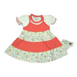 EBI & EBI Fairtrade Kleid peach allover