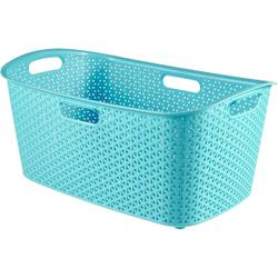 CURVER MY STYLE Wäschekorb, 47 Liter, Aufbewahrungskorb für Wäsche, Farbe: molokai blue