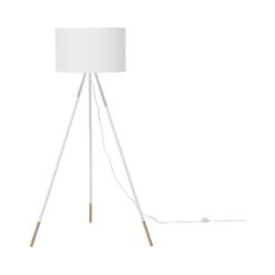 Beliani - Stehlampe im skandinavischen Stil lampenschirm aus Poly-Baumwolle weiß Tobol