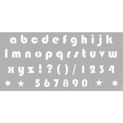 Schablone 31,5 x 66 cm Alphabet Small Letters