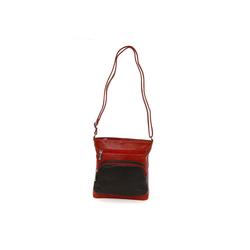 DrachenLeder Handtasche OTZ900X DrachenLeder Damen Handtasche (Handtasche), Damen Tasche, Echtleder schwarz, braun rot 21 cm x 22 cm x 6 cm