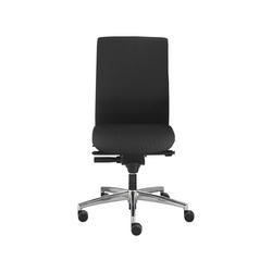Dauphin Bürodrehstuhl 'Sim-O' mit harten Rollen schwarz