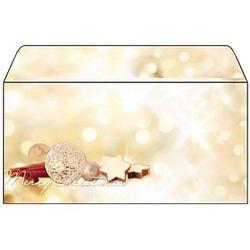 25 SIGEL Weihnachtsbriefumschläge Zimtsterne DIN lang ohne Fenster