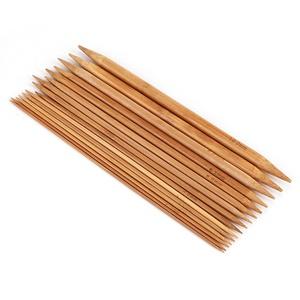 Stricknadeln 15 Größen von 2mm bis 10mm Doppelspitzen Bambus Stricknadeln Sets Nadelspiele Für Experten und Anfänger