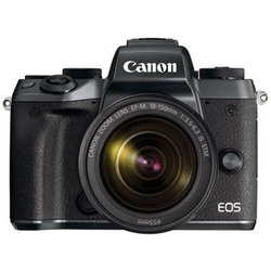 Canon EOS M5 Kit + EF-M 18-150 IS STM + Systemkamera 24.2 Megapixel Schwarz Full HD Video, Klappbare
