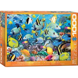 empireposter Puzzle Farbenprächtige Fische im Ozean - 1000 Teile Puzzle im Format 68x48 cm, Puzzleteile
