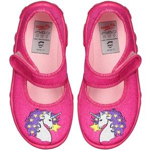 Superfit Kinder-Spangen-Hausschuhe in Gr. 27, pink, meadchen