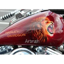 Harley Davidson - Airbrush (Wandkalender 2021 DIN A3 quer)