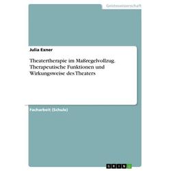 Theatertherapie im Maßregelvollzug. Therapeutische Funktionen und Wirkungsweise des Theaters