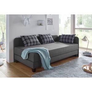 Maintal Gästebett mit Umbau und Bettkasten grau