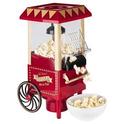 KORONA Popcornmaschine 41100 Popcornmaker, Retro Design, Heißluft, kein Öl, Popcornautomat, Popcornmaschine als Popcornwagen, rot / gold