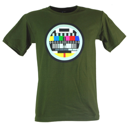 Guru-Shop T-Shirt Fun T-Shirt `Testbild` - grün M