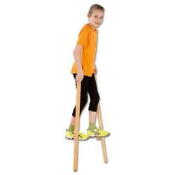 Holzstelzen - H: 140 cm, ohne Handgriffe