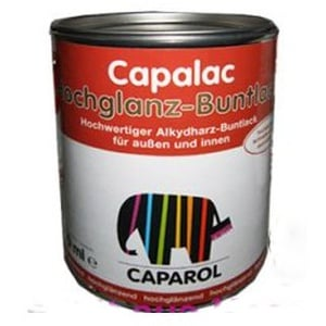 Caparol Capalac Hochglanz Buntlack 375ml Tiefschwarz RAL 9005