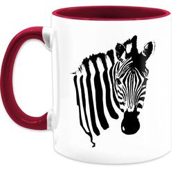 Shirtracer Tasse Zebra - Statement Tasse - Tasse zweifarbig, Keramik