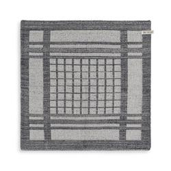 Knit Factory Geschirrtuch Knit Factory Küchentuch Emma Ecru/Anthrazit, (1-tlg)