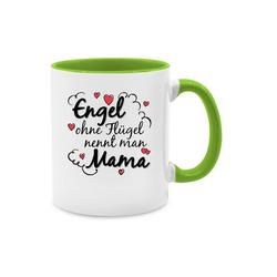 Shirtracer Tasse Engel ohne Flügel nennt man Mama Tasse - Tasse zweifarbig