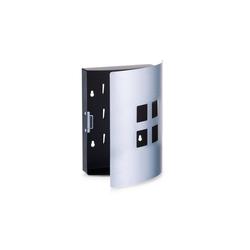 HTI-Living Schlüsselkasten Schlüsselkasten Edelstahl 4 Quadrate