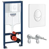 GROHE Rapid SL 3 in 1-Set für WC - Element 113 cm + Skate Air Platte alpinweiß + Wandwinkel