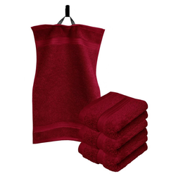 Lashuma Handtuch Set Linz (Set, 4-tlg), Gästehandtücher 30x50 cm, Handtücher Frottee rot