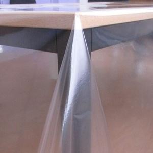 KEVKUS Tischfolie Tischdecke glasklar durchsichtig transparent 0,3 mm wählbar in eckig rund oval (Rand: Schnittkante (ohne Einfassung), 50 x 140 cm eckig)