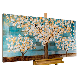 KUNSTLOFT Gemälde Blaue Melancholie, handgemaltes Bild auf Leinwand