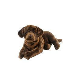 Teddys Rothenburg Kuscheltier Hund groß Labrador braun mit Geschirr 70 cm (Plüschhund groß Stoffhund, Plüschhunde Stoffhunde)