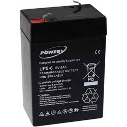 Powery Powery Blei-Gel Akku für Kindermotorrad Kinderfahrzeuge Kinderquad 6V 5Ah (ersetzt auch 4Ah 4,5Ah), 6V, Lead-Aci