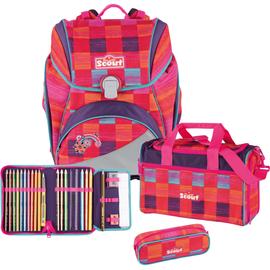 SCOUT Alpha 4-tlg. pink rainbow mit Sporttasche