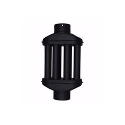 acerto® Rohr acerto® Abgaswärmetauscher 120x550mm schwarz Rauchrohr Warmlufttauscher