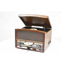 Retro HiFi-System mit Radio , Platten-, CD-, Kassettenspieler und Encoding