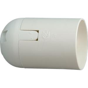FASSUNG E27 WS - Lampenfassung, E27, Kunststoff, weiß