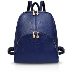 NICOLE & DORIS Damen Rucksack Casual Rucksack für Damen Wasserdichte Handtasche für Frauen Rucksäcke Kunstleder Blau