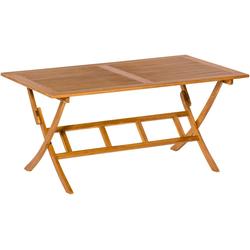 MERXX Gartentisch 90 cm x 74 cm x 160 cm