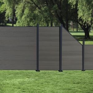 WPC Zaun Lamellenzaun Sichtschutzzaun Gartenzaun Windschutz anthrazit grau beige