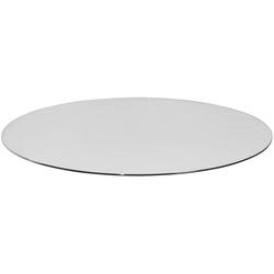 Glasbodenplatte für Kaminöfen, rund, Ø 110 cm, zum Funkenschutz, 26495666-0  110 cm