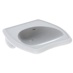 Geberit Waschtisch VITALIS 550 x 550 mm, barrierefrei, mit Überlauf weiß